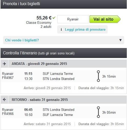 Volo Hotel Londra Ryanair