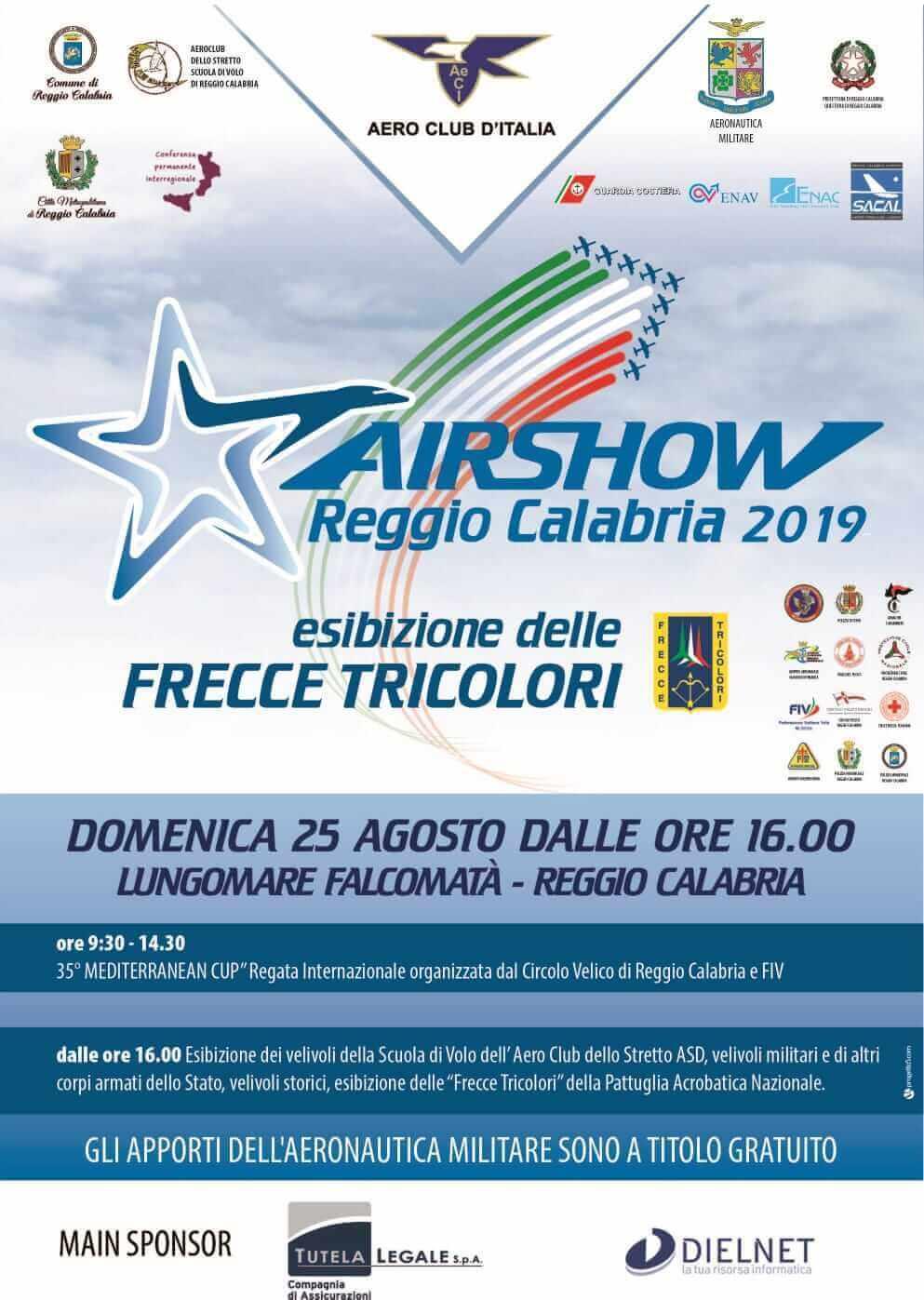Frecce Tricolori Calendario 2020.Aeroporto Reggio Calabria Programma Frecce Tricolori Del 25