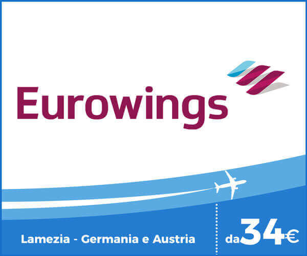 Eurowings voli Aeroporto Lamezia Terme - Germania e Austria